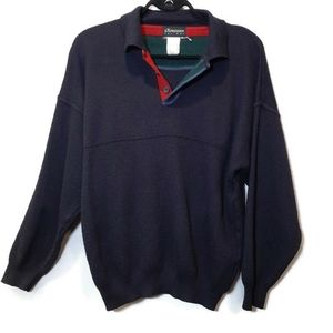 Men's 100% Wool Pullover Sweater Made In Italy